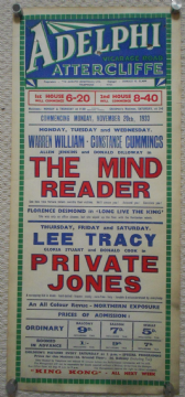 Mind Reader / Private Jones UK film poster, Constance Cummings, 1933